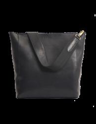 Leder-Shopper O My Bag Sofia Eco-Stromboli Leather black