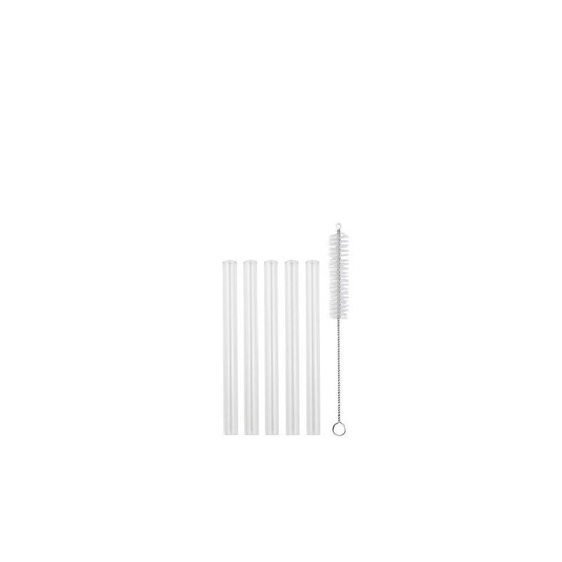 Glas-Strohhalme 5er-Set Mini gerade Strawganic transparent