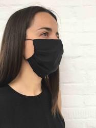 Wunderwerk Gesichtsmaske aus Tencel schwarz