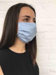 Wunderwerk Gesichtsmaske aus Tencel hellblau