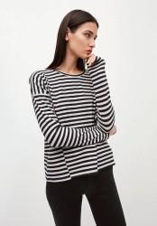 Longsleeve Armedangels Palinaa Knitted Stripe kitt-black