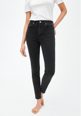 Damen-Jeans Armedangels Ingaa washed down black