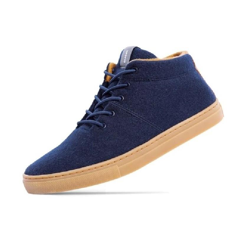 Woll-Sneakers Baabuk Sky Wooler navy brown