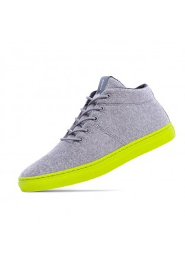 Woll-Sneakers Baabuk Sky Wooler concrete lime