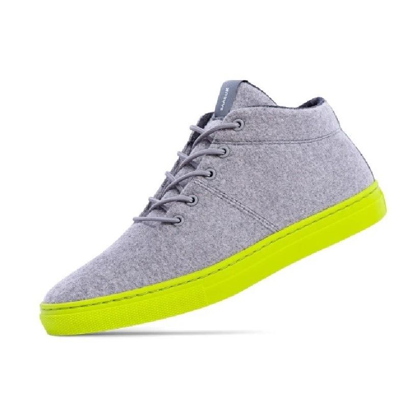 Woll-Sneakers Baabuk Sky Wooler concrete lime