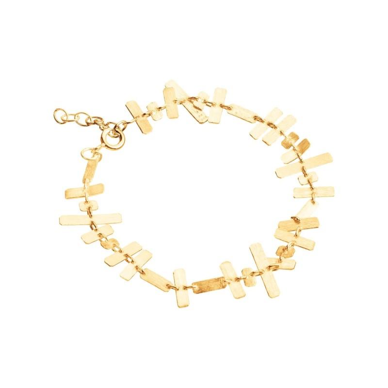 Armband Protsaah Rectangular Brick Bracelet gold (AC-BR-002-AU)