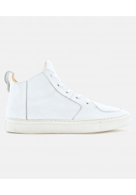 ekn Argan Mid White Leather