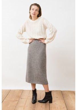 Rock Jungle Folk Pierre Skirt undyed grey