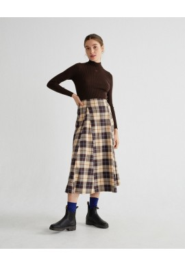 Rock Thinking Mu Rati Skirt Big Checks