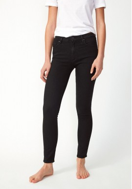 Damen-Jeans Armedangels Tillaa X Stretch black night