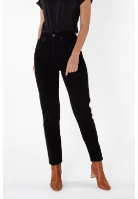 Damen-Jeans Kuyichi Nora Mom Fit Corduroy Black