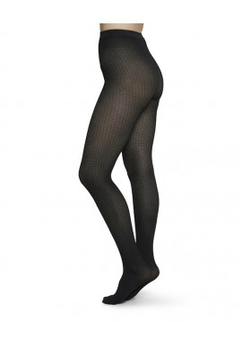 Strümpfe Swedish Stockings Agnes Houndstooth Tights Black