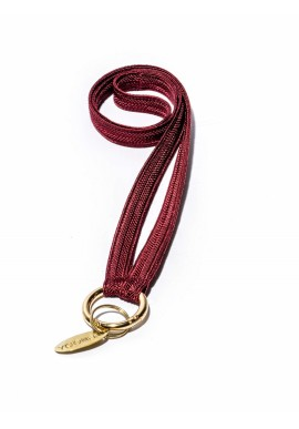 Schlüsselband Yoomee Keychain Zahra Red Red Wine Thin Gold
