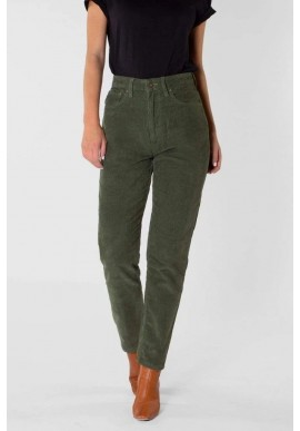Damen-Hose Kuyichi Nora Mom Fit Corduroy Leaf Green