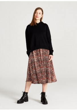 Rock Givn Berlin Vana Skirt Black Orange Hearts