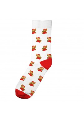 Socken Dedicated Sigtuna Super Mario Pattern White