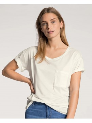 T-Shirt Calida 100% Nature Shirt Short Sleeve White