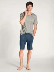 Kurz-Pyjama Calida 100% Nature Gravel Mele