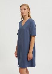 Tencel-Kleid Armedangels Aamaya Foggy Blue