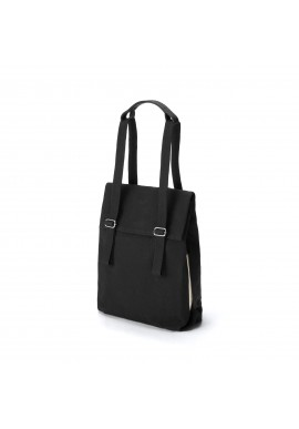 Qwstion Bananatex Flap Tote Small All Black