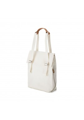 Qwstion Bananatex Flap Tote Small Natural White