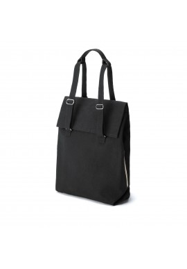 Qwstion Bananatex Flap Tote Medium All Black