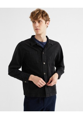 Jacke Thinking Mu James V Jacket Black