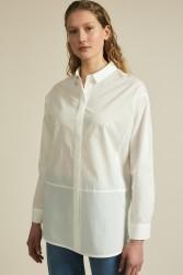 Lange Bluse Lanius GOTS White