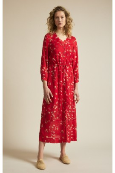 Midikleid Lanius Print Moonflower Red