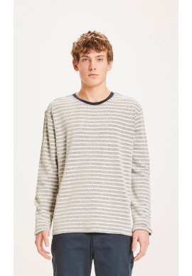 Longsleeve Knowledge Cotton Apparel Locust Striped Total Eclipse