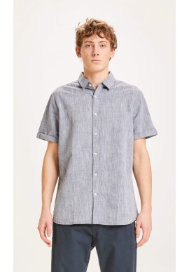 Hemd Knowledge Cotton Apparel Larch SS Total Eclipse