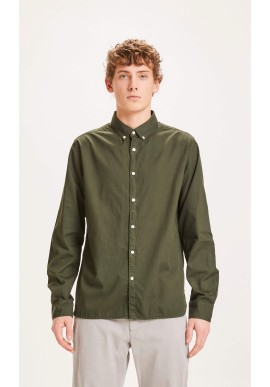 Cord-Hemd Knowledge Cotton Apparel Larch Casual Fit Forrest Night