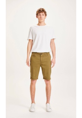 Chino-Shorts Knowledge Cotton Apparel Chuck burned olive