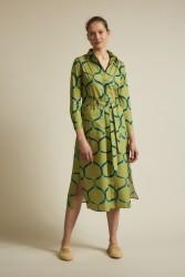 Hemdblusenkleid Lanius Print Orient Matcha