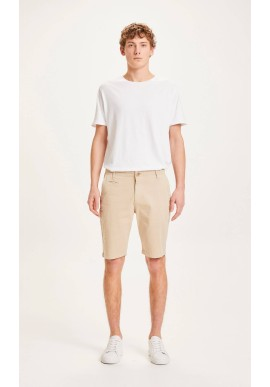 Chino-Shorts Knowledge Cotton Apparel Chuck Light Feather Gray