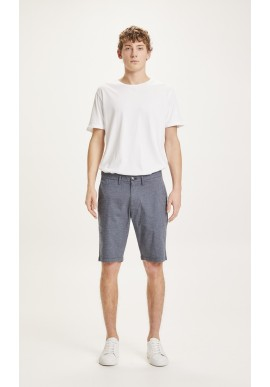 Chino-Shorts Knowledge Cotton Chuck Pattern Total Eclipse