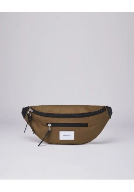 Hip Bag Sandqvist Aste Olive with Black Leather