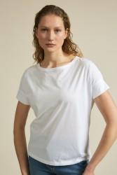 T-Shirt GOTS mit Ärmelblende Lanius White