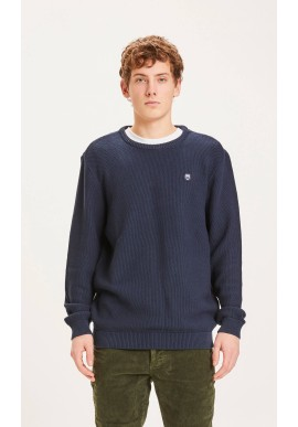 Pullover Knowledge Cotton Apparel Field O-Neck Pique Badge Knit