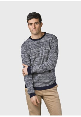Strickpullover Klitmøller Collective Mik Navy / Cream