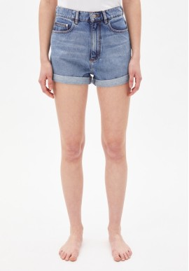 Denim-Shorts Armedangels Silvaa Faded Blue