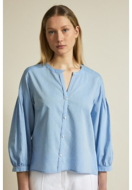 Chambray Bluse Lanius GOTS Horizon Blue