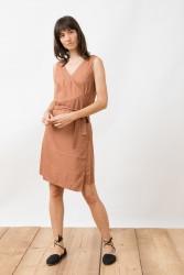 Wickelkleid Jungle Folk Wrap Dress Juleah Cognac