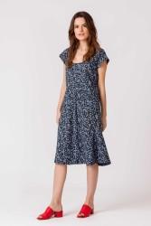 Kleid SKFK Saule Dress Flora Blue