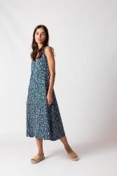 Kleid SKFK Kaia Dress Flora Blue