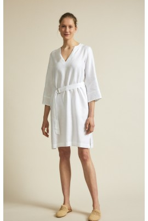 Kleid mit Gürtel Lanius White