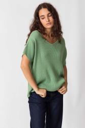 Kurzarmpullover SKFK Hekuba Sweater Pale Green