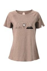 Raglan T-Shirt ZRCL Triple Brown Melange