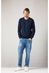Knit Sweater ZRCL Round Neck blue