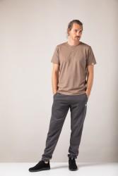 Herren-T-Shirt ZRCL Henley Brown Melange
